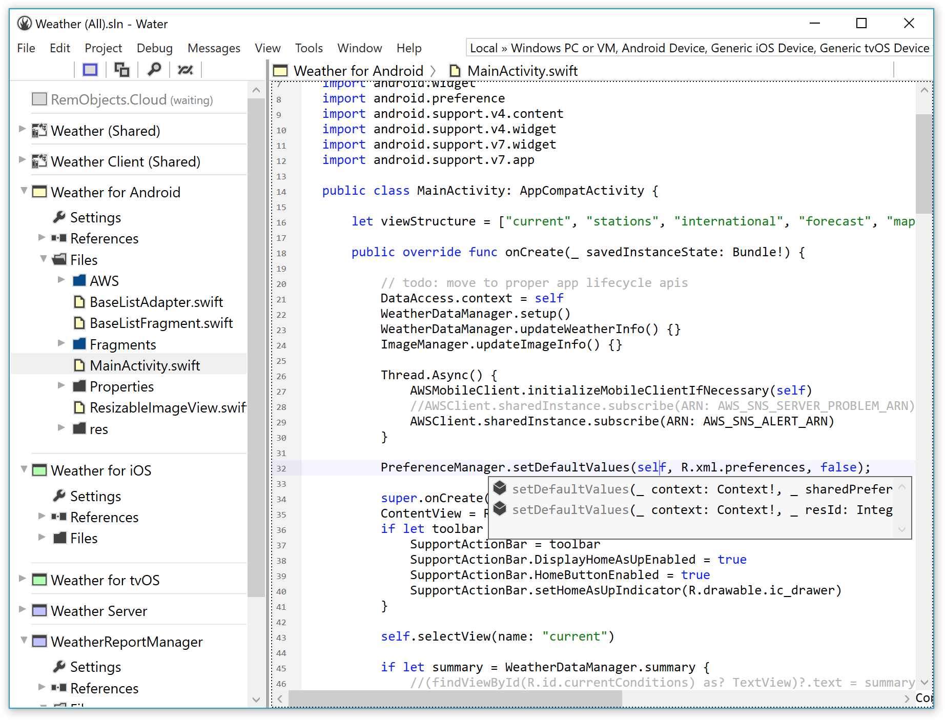 A First Peek at Water, our New IDE for Windows